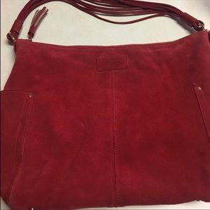Kate spade red suede bag